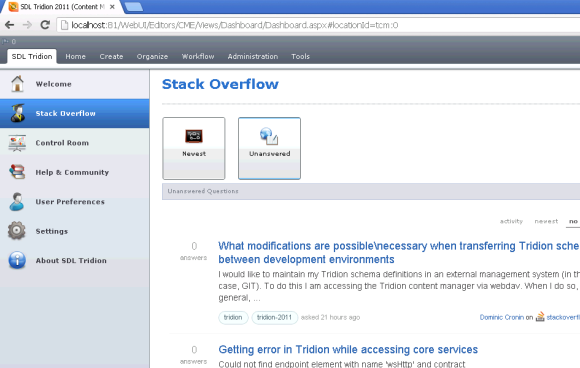 Stack Overflow dashboard