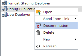 Decommission a Publication Target