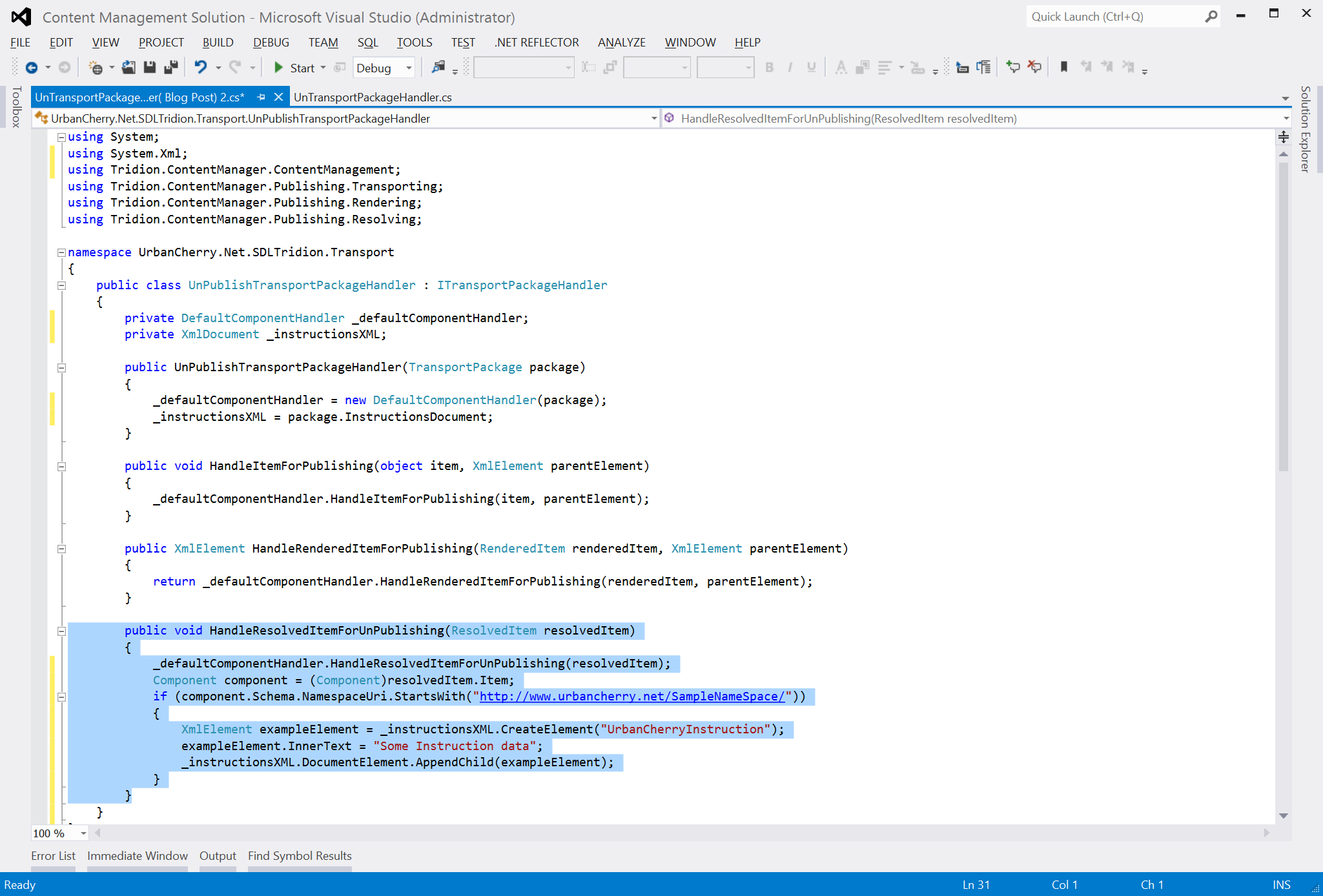 Adding to the instructions XML