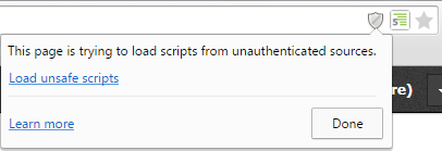 blocked content Chrome
